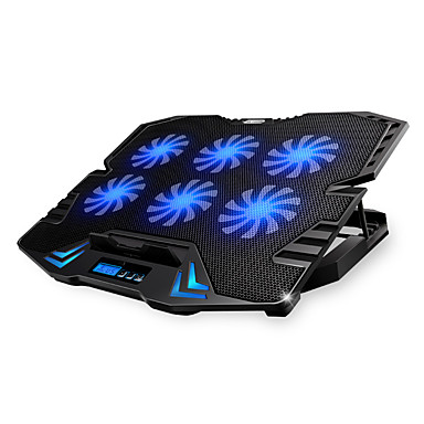 abordables Ventilateurs d'Ordinateur-réglable écran led de contrôle intelligent tapis de refroidissement pour ordinateur portable avec 5 ventilateurs