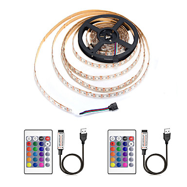 ZDM® 4м Наборы ламп / RGB ленты 240 светодиоды 5050 SMD 1 пульт дистанционного управления 24Keys / 2 x соединительная линия USB RGB Водонепроницаемый / Можно резать / USB 5 V / Работает от USB 1
