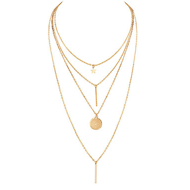 7dc8f8f2ab5f cheap Necklaces-Women  039 s Coin Bar Chain Necklace Y Necklace Layered  Necklace