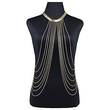 preiswerte Körperschmuck-Damen Körperschmuck 40 cm Körper-Kette / Bauchkette Gold damas / Böhmische / Tropisch Aleación Modeschmuck Für Klub / Bikini Sommer / überdimensional