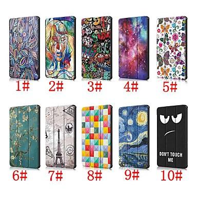 ieftine Carcase / Huse de Huawei-Maska Pentru Huawei Huawei Mediapad T5 10 / Huawei Mediapad M5 Lite 10 Cu Stand / Întoarce / Model Carcasă Telefon Imprimeu Leopard / Decor / Turnul Eiffel Greu PU piele pentru Huawei Mediapad T5 10