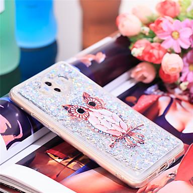 voordelige Huawei Mate hoesjes / covers-hoesje Voor Huawei Mate 10 Schokbestendig / Glitterglans Achterkant Uil / Glitterglans Zacht TPU