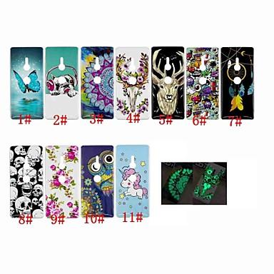 voordelige Hoesjes / covers voor Sony-hoesje Voor Sony Sony Xperia XZ3 / Xperia XA2 / Xperia L2 Glow in the dark / Patroon Achterkant dier / Dromenvanger / Doodskoppen Zacht TPU