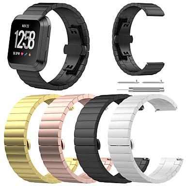 voordelige Smartwatch-accessoires-Horlogeband voor Fitbit Versa Fitbit Sportband / Butterfly Buckle Roestvrij staal Polsband