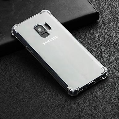 Недорогие Чехлы и кейсы для Galaxy S6-Кейс для Назначение SSamsung Galaxy S9 / S9 Plus / S8 Plus Защита от удара / Прозрачный Кейс на заднюю панель Однотонный Мягкий ТПУ