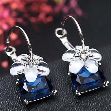 povoljno Naušnice-Žene Okrugle naušnice Geometrijski Cvijet slatko Moda Slatka Style Smola Naušnice Jewelry Sive boje / Crvena / Plava Za Party Spoj 1 par