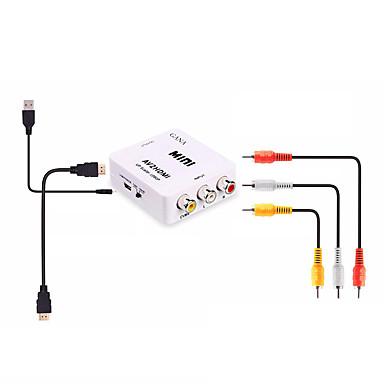 RCA Cable adaptador, RCA a HDMI 1.4 Cable adaptador Hembra - Hembra 1080P Corto (Menos de 20 cm)