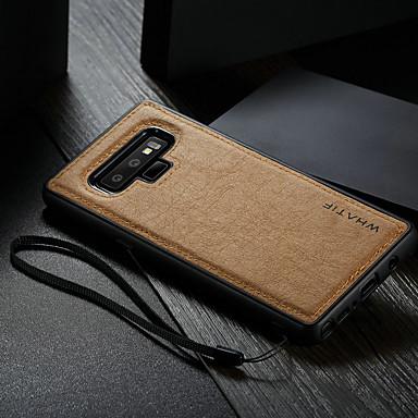 voordelige Galaxy Note-serie hoesjes / covers-hoesje Voor Samsung Galaxy Note 9 Waterbestendig / Schokbestendig / DHZ Achterkant Effen Hard PU-nahka