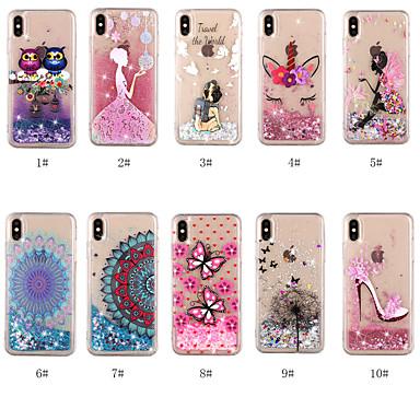 voordelige iPhone 6 Plus hoesjes-hoesje Voor Apple iPhone XS / iPhone XR / iPhone XS Max Stromende vloeistof / Transparant / Patroon Achterkant Hond / Mandala / Vlinder Hard TPU