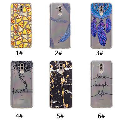 voordelige Huawei Y-serie hoesjes / covers-hoesje Voor Huawei Huawei Nova 3i / Huawei P20 / Huawei P20 Pro Patroon Achterkant Woord / tekst / Veren / Marmer Zacht TPU / P10 Plus / P10 Lite / P10