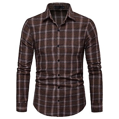 Men's Basic T-shirt - Striped / Color Block / Check