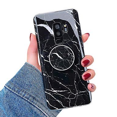 voordelige Galaxy S-serie hoesjes / covers-hoesje Voor Samsung Galaxy S9 / S9 Plus / S8 Plus met standaard / IMD Achterkant Marmer Zacht TPU