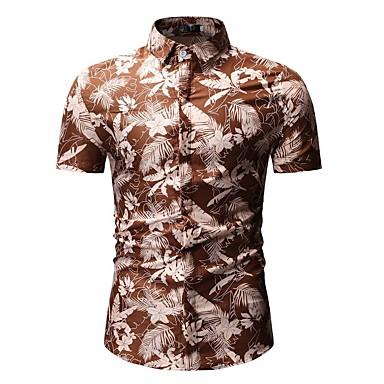 Men's Basic Shirt - Floral / Color Block Print