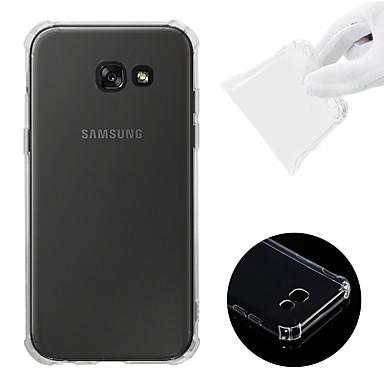 voordelige Galaxy A-serie hoesjes / covers-hoesje Voor Samsung Galaxy A5 (2017) Schokbestendig / Transparant Achterkant Effen Zacht TPU