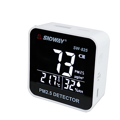 SNDWAY SW825 Digital Air Quality Monitor Laser PM2.5 Detector
