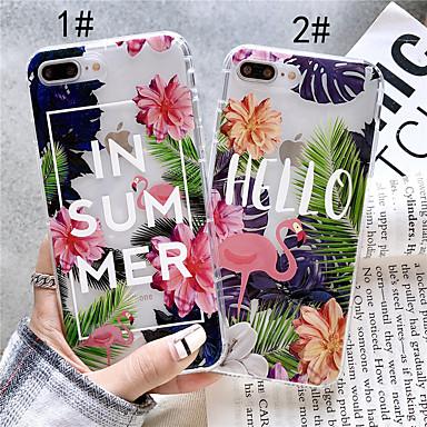 voordelige iPhone X hoesjes-hoesje Voor Apple iPhone XS / iPhone XR / iPhone XS Max Transparant / Patroon Achterkant Flamingo Zacht TPU