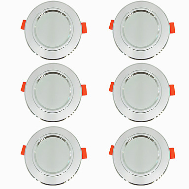 economico Luci per interni-6pcs 5 W 360 lm 10 Perline LED Facile da installare A incasso LED a incasso Bianco caldo Luce fredda 220-240 V Casa / ufficio Salotto / sala da pranzo