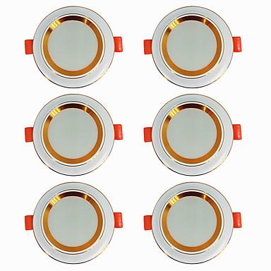 economico Luci per interni-6pcs 5 W 360 lm 20 Perline LED Facile da installare A incasso LED a incasso Bianco caldo Luce fredda 220-240 V Casa / ufficio Salotto / sala da pranzo