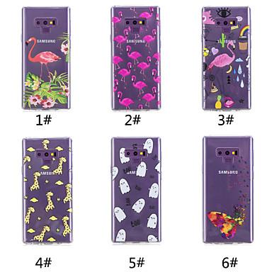voordelige Galaxy Note-serie hoesjes / covers-hoesje Voor Samsung Galaxy Note 9 / Note 8 Patroon Achterkant Vlinder / Flamingo / Cartoon Zacht TPU