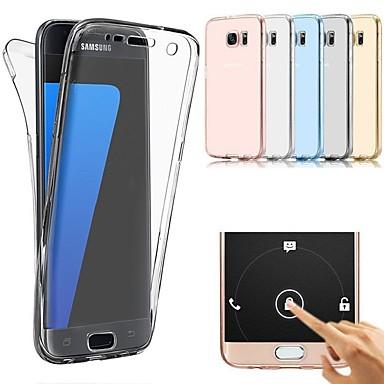 Недорогие Чехлы и кейсы для Galaxy S6-Кейс для Назначение SSamsung Galaxy S9 / S9 Plus / S8 Plus Ультратонкий Чехол Однотонный Мягкий ТПУ