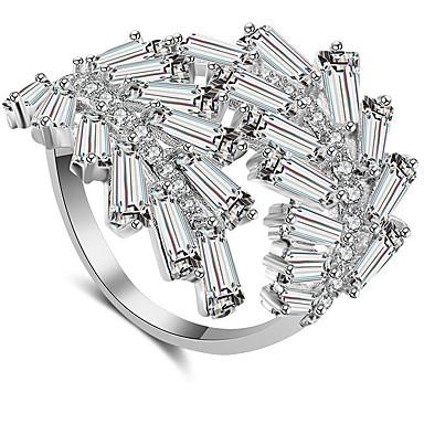 여성용 클래식 열기 반지 구리 패션 반지 보석류 골드 / 실버 / 로즈 제품 결혼식 약혼 조절가능