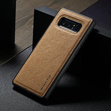voordelige Galaxy Note-serie hoesjes / covers-hoesje Voor Samsung Galaxy Note 8 Waterbestendig / Schokbestendig / DHZ Achterkant Effen Hard PU-nahka