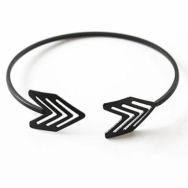 economico Bracciali-Per donna Bracciali a polsino geometrico Arrow Artistico Punk Lega Gioielli braccialetto Oro / Nero / Argento Per Feste Regalo Carnevale