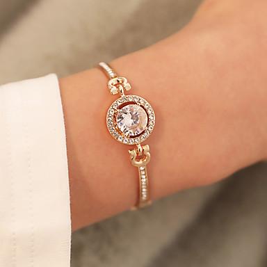 0a35ac8a1f66c2 cheap Bracelets-Women's Synthetic Diamond Chain Bracelet Bracelet  Bangles Classic Flower