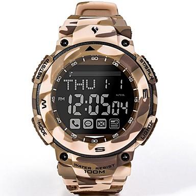 levne Pánské-Pánské Vojenské hodinky Lovecké hodinky japonština Digitální Pryž Khaki 100 m Voděodolné LCD Stopky Digitální maskování Módní - Khaki Jeden rok Životnost baterie / Svítící / Panasonic CR2025