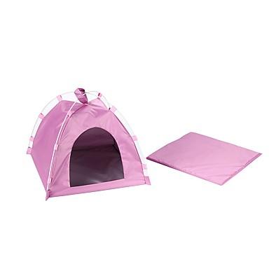 رخيصةأون مستلزمات وأغراض العناية بالكلاب-كلاب قطط الأسرّة حيوانات أليفة أغطية لون سادة خيمة الكاميرا أزرق زهري للحيوانات الأليفة