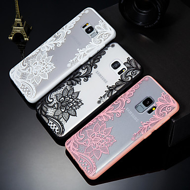 voordelige Galaxy S-serie hoesjes / covers-hoesje Voor Samsung Galaxy S9 / S9 Plus / S8 Reliëfopdruk / Patroon Achterkant Lace Printing Hard PC