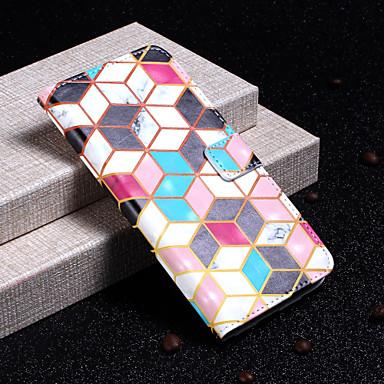 Недорогие Чехлы и кейсы для Galaxy S6 Edge-Кейс для Назначение SSamsung Galaxy S9 / S9 Plus / S8 Plus Кошелек / Бумажник для карт / со стендом Чехол Геометрический рисунок Твердый Кожа PU