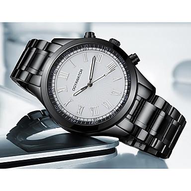 זול שעוני גברים-בגדי ריקוד גברים שעוני ספורט שעוני שמלה שעון יד קווארץ מתכת אל חלד שחור עמיד לזעזועים שעונים יום יומיים אנלוגי פאר אופנתי - שחור שחור לבן שנה אחת חיי סוללה