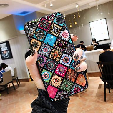 voordelige iPhone 7 hoesjes-hoesje Voor Apple iPhone XS / iPhone XR / iPhone XS Max Patroon Achterkant Luipaardprint / Bloem Zacht silica Gel