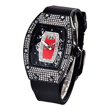 levne Pánské-Pánské Sportovní hodinky japonština Křemenný Silikon Černá / Bílá / Červená 30 m Voděodolné Kalendář Chronograf Analogové Luxus Módní - Tmavě červená Růžové zlato Černá / Růžové zlato Dva roky