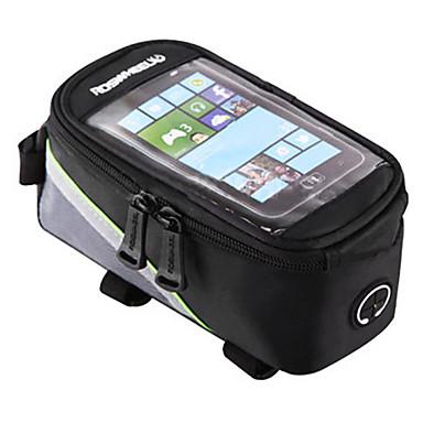 رخيصةأون حقائب الدراجة-ROSWHEEL حقيبة الهاتف الخليوي حقيبة دراجة الإطار 4.2/5.5/6.2 بوصة الشاشات التي تعمل باللمس عاكس مقاوم للماء ركوب الدراجة إلى Samsung Galaxy S6 أيفون 5C أيفون 4/4S أحمر أخضر أزرق أخضر / الدراجة