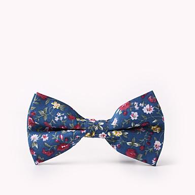 baratos Acessórios Masculinos-Homens Festa / Activo / Estilo bonito Gravata Borboleta Floral