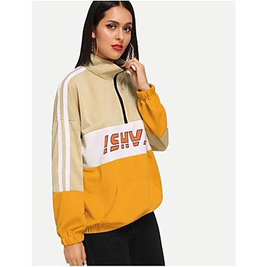 billige Hættetrøjer og sweatshirts til damer-Dame Afslappet Sweatshirt - Bogstaver