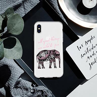 voordelige iPhone 6 Plus hoesjes-hoesje Voor Apple iPhone XS / iPhone XR / iPhone XS Max Patroon Achterkant Woord / tekst / dier / Olifant Zacht TPU