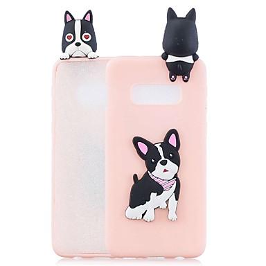 Недорогие Чехлы и кейсы для Galaxy S6 Edge-Кейс для Назначение SSamsung Galaxy S9 / S9 Plus / S8 Plus С узором Кейс на заднюю панель С собакой / Мультипликация Мягкий ТПУ