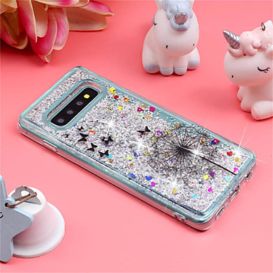 Case For Samsung Galaxy Galaxy S10 Plus / Galaxy S10 E Shockproof / Flowing Liquid / Pattern Back Cover Glitter Shine / Dandelion Soft TPU for S9 / S9 Plus / S8 Plus