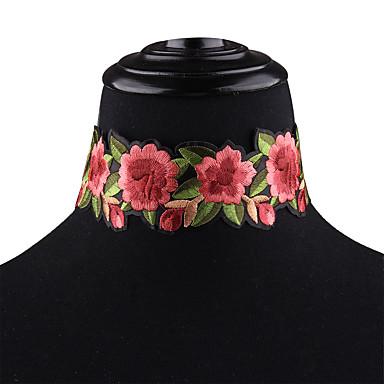 povoljno Modne ogrlice-Žene Choker oglice Statement slatko zdepast Tekstil Duga 25 cm Ogrlice Jewelry 1pc Za Karneval Praznik Voljeni Bikini Jabuka