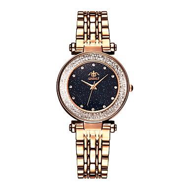Dámské Náramkové hodinky zlaté hodinky Křemenný Nerez Černá / Modrá / Hnědá Voděodolné Nový design Analogové Vintage Módní - Hnědá Modrá Růžové zlato