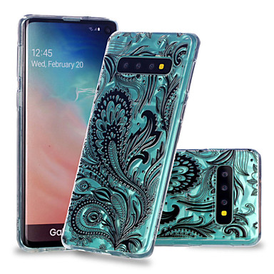Case For Samsung Galaxy Galaxy S10 Plus / Galaxy S10 E Shockproof / Transparent / Pattern Back Cover Lace Printing Soft TPU for S9 / S9 Plus / S8 Plus