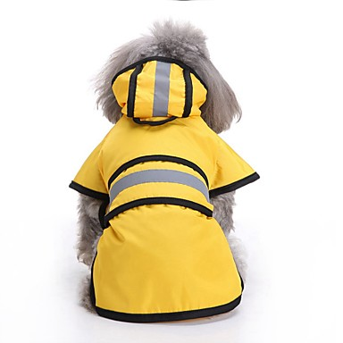Psy Płaszcz przeciwdeszczowy Ubrania dla psów Solidne kolory Czerwony Zielony Niebieski Terylen Kostium Na Corgi Beagle Buldog Wiosna, jesień, zima, lato Mężczyzna Unikalny Wodoodporny
