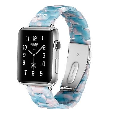 Недорогие Ремешки для Apple Watch-Ремешок для часов для Apple Watch Series 4/3/2/1 Apple Классическая застежка Керамика Повязка на запястье