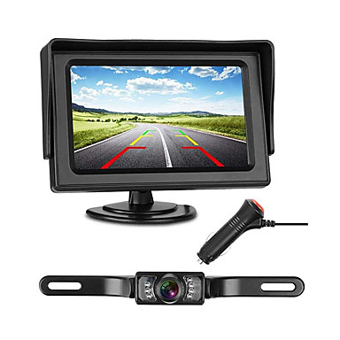 voordelige Auto-achteruitkijkcamera-772 4 inch(es) TFT-LCD 480TVL 480 TV-Lijnen 1/4 tuuman teräväpiirtoinen CMOS-väri Bekabeld 170 graden 1 pcs 135 ° 4.3 inch(es) Achteruitrijcamera / Auto-achteruitrijmonitor LED-indicator / Plug