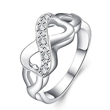 Pentru femei Inel de declarație Dublu X prsten Infinit femei Personalizat Lux Design Unic Argilă Aliaj Inele la Modă Bijuterii Argintiu Pentru Nuntă Petrecere Cadou Zilnic Mascaradă Petrecere Logodnă