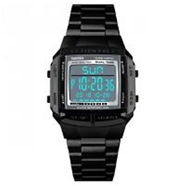 SKMEI สำหรับผู้ชาย นาฬิกาตกแต่งข้อมือ ญี่ปุ่น ดิจิตอล สแตนเลส ดำ / เงิน / ทอง 30 m กันน้ำ ปฏิทิน นาฬิกาจับเวลา ดิจิตอล ไม่เป็นทางการ แฟชั่น - สีเงิน กาแฟ Rose Gold