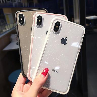 voordelige iPhone-hoesjes-hoesje Voor Apple iPhone XS / iPhone XR / iPhone XS Max Schokbestendig / Doorzichtig Achterkant Glitterglans Zacht TPU